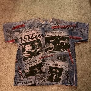 1991 Atlanta Braves Jerzees T-shirt